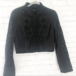 Bebe Embroidered Crop Jacket 10